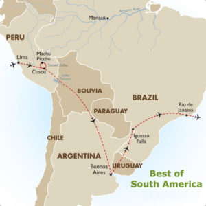 best of south america map